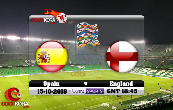 مشاهدة مباراة أسبانيا وإنجلترا اليوم 15-10-2018 دوري الأمم الأوروبية