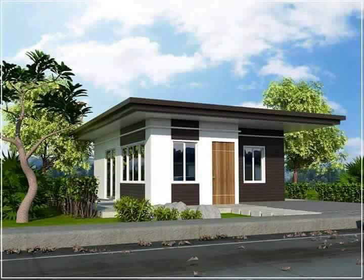 Simple Beautiful Bungalow House With Elevated Flooring Terrace And Garden Designs