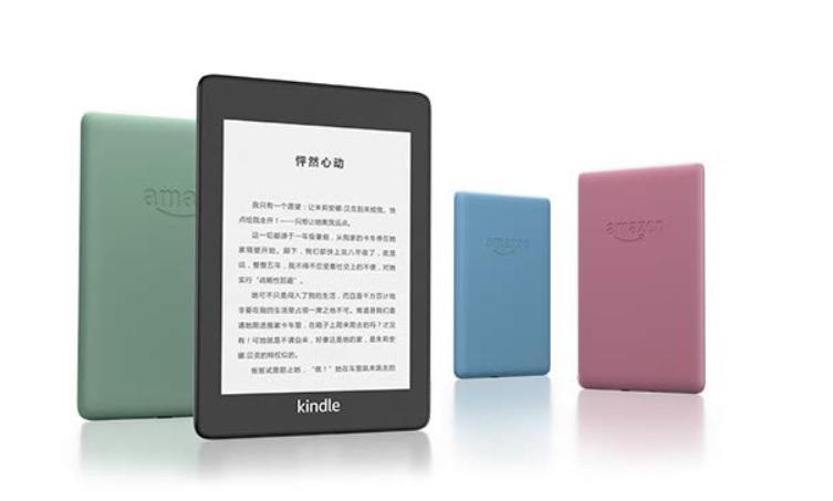 Wersje kolorystyczne Kindle Paperwhite 4: czarna, niebieska, zielona, różowa