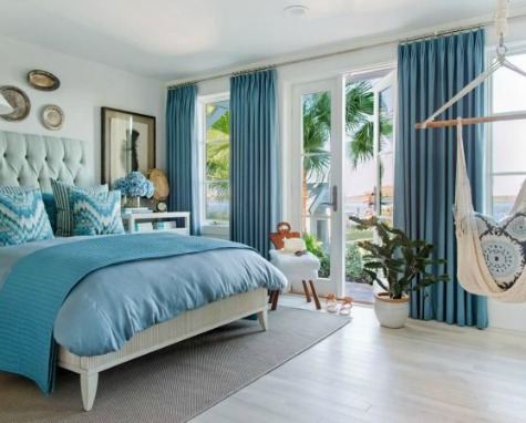 Ocean Blue Bedroom