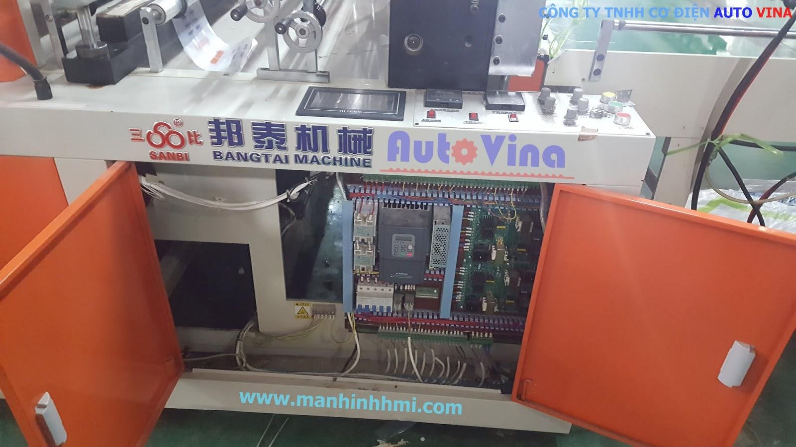 Máy cắt túi, cắt bao bì nhựa của sử dụng màn hình HLD-800