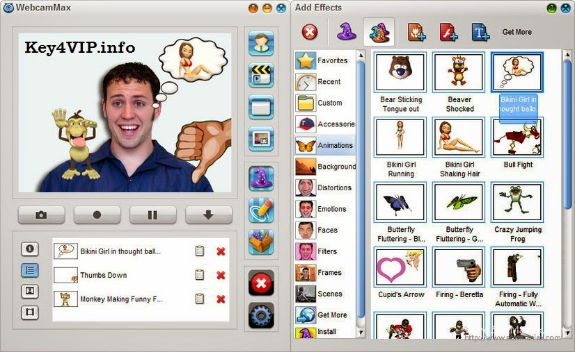 WebcamMax 7.8.4.6 Full,Tạo hiệu ứng cho Webcam vui nhộn