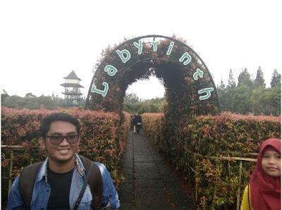 taman labyrint Taman Bunga Nusantara