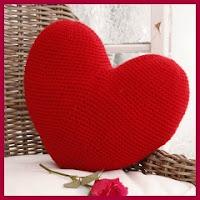 Cojín corazón a crochet
