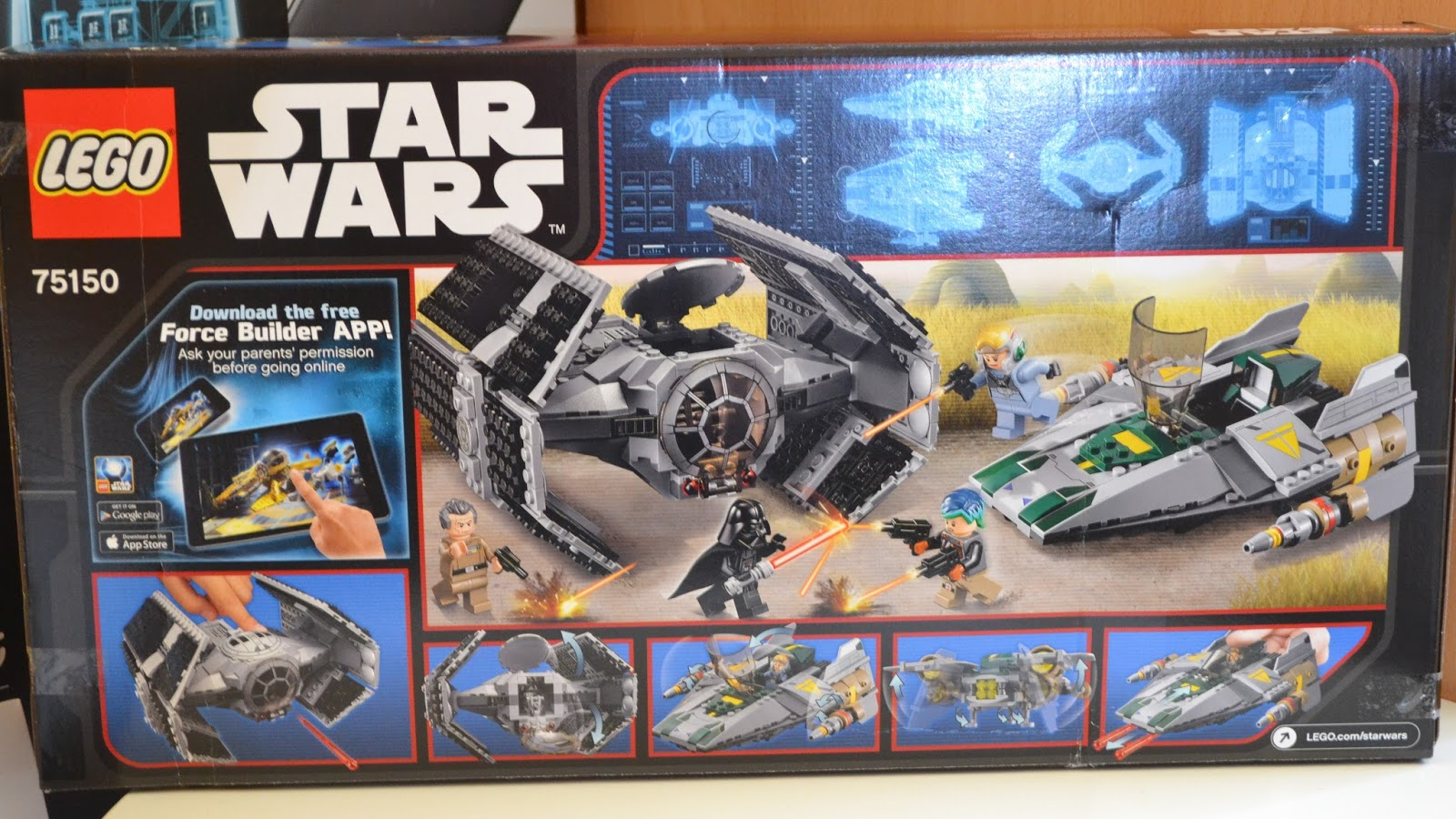 Lego Star Wars Set 75150 Vaders Tie Advanced Vs A Wing Starfighter