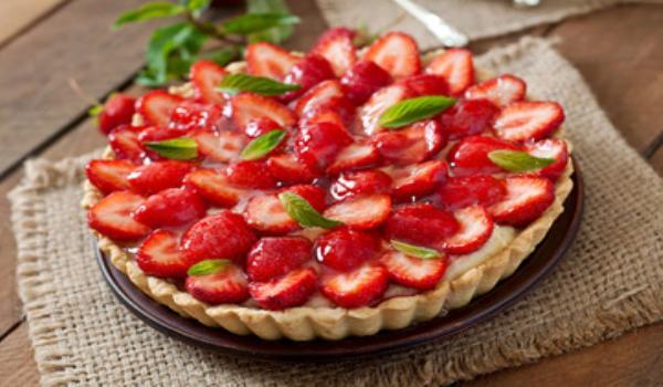 Tarta de frutilla sin gelatina