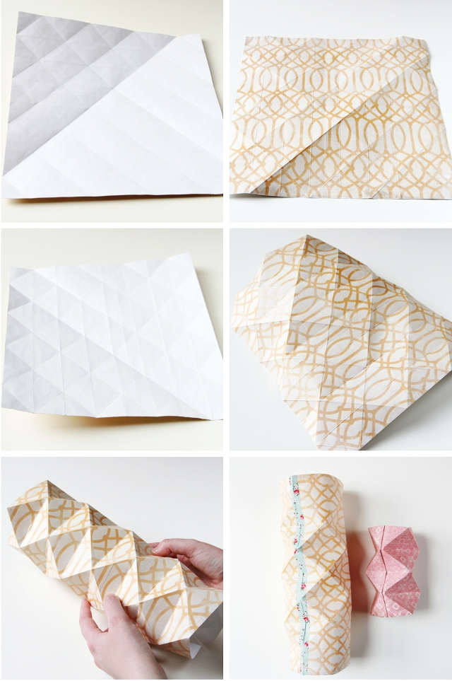 how to make diy origami paper vases