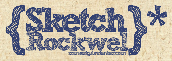 Efeito Photoshop: Sketch Rockwell Bold Font