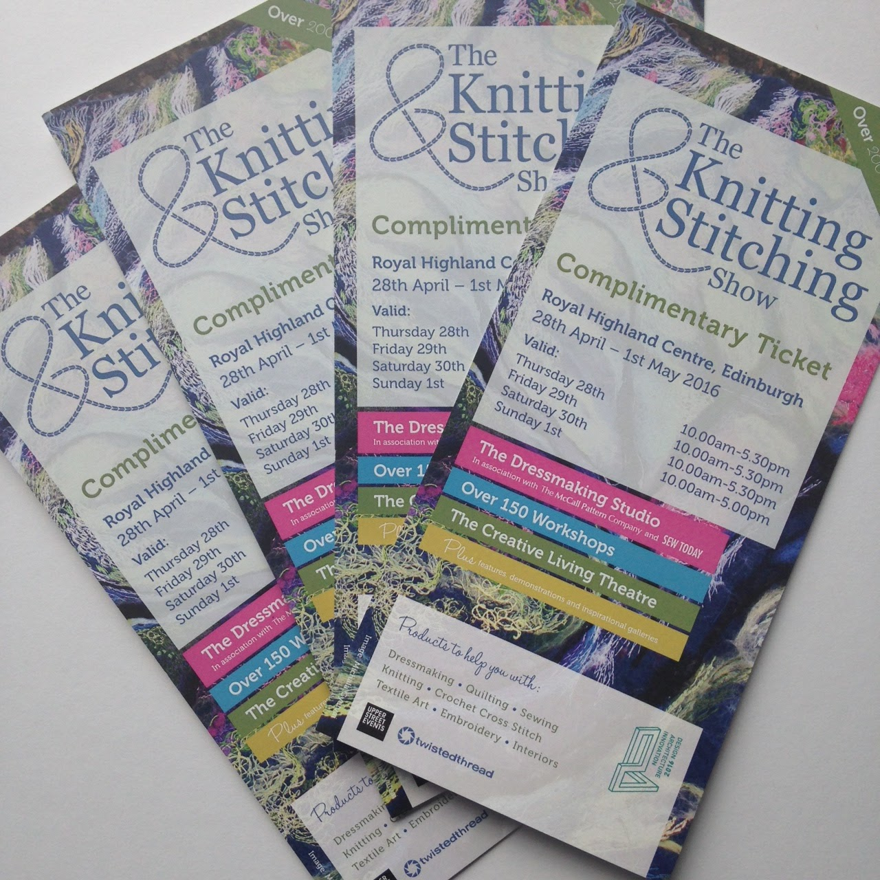 Knit And Stitch Show Tickets : myBearpaw: Knitting and Stitching Show Edinburgh ticket GIVEAWAY!