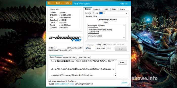 Config HTTP Proxy Injector (HPI) Axis Hitz 10 Juli 2017
