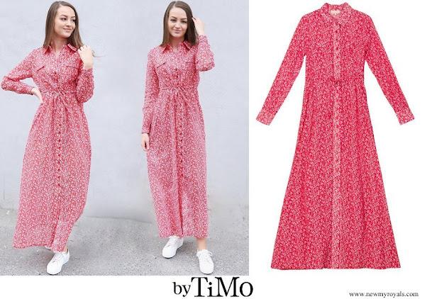 Princess Sofia wore By Timo Cotton Organza Petite Flowers Shirt Dress