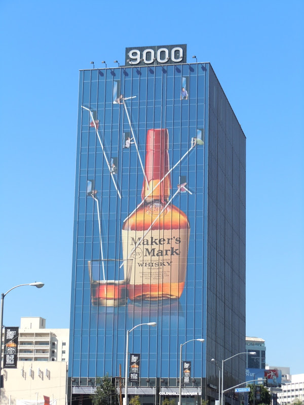 Giant Maker's Mark straws billboard