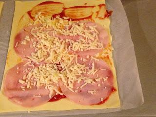 Rulos de jamón y queso, preparación 2