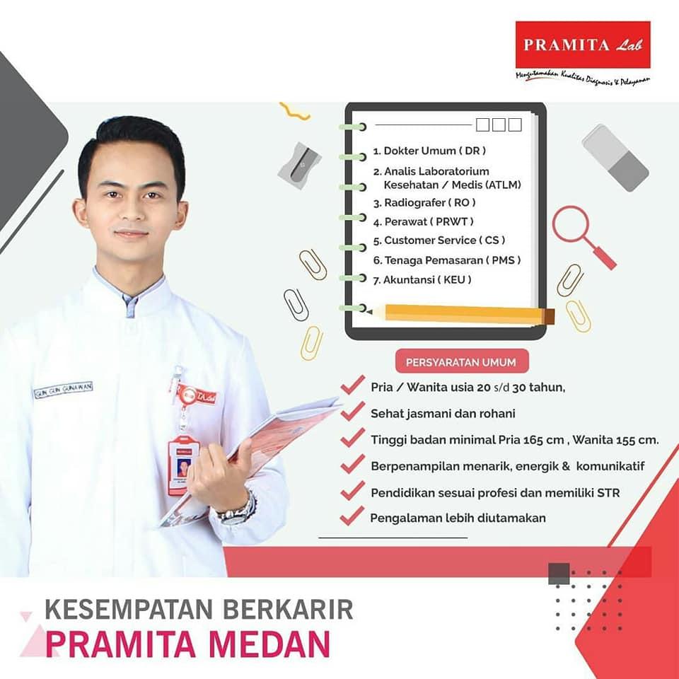 Lowongan Kerja Laboratorium Klinik Pramita Cabang Medan 2019 Info Laboratorium Medik