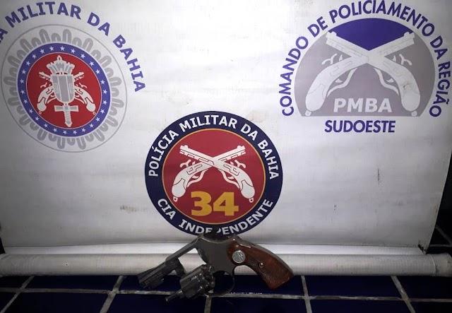 Barra da Estiva: Homem é preso por ameaça à ex-mulher e porte ilegal de arma