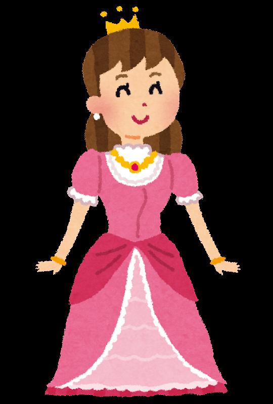 ドレスを着たお姫様のイラスト かわいいフリー素材集 いらすとや