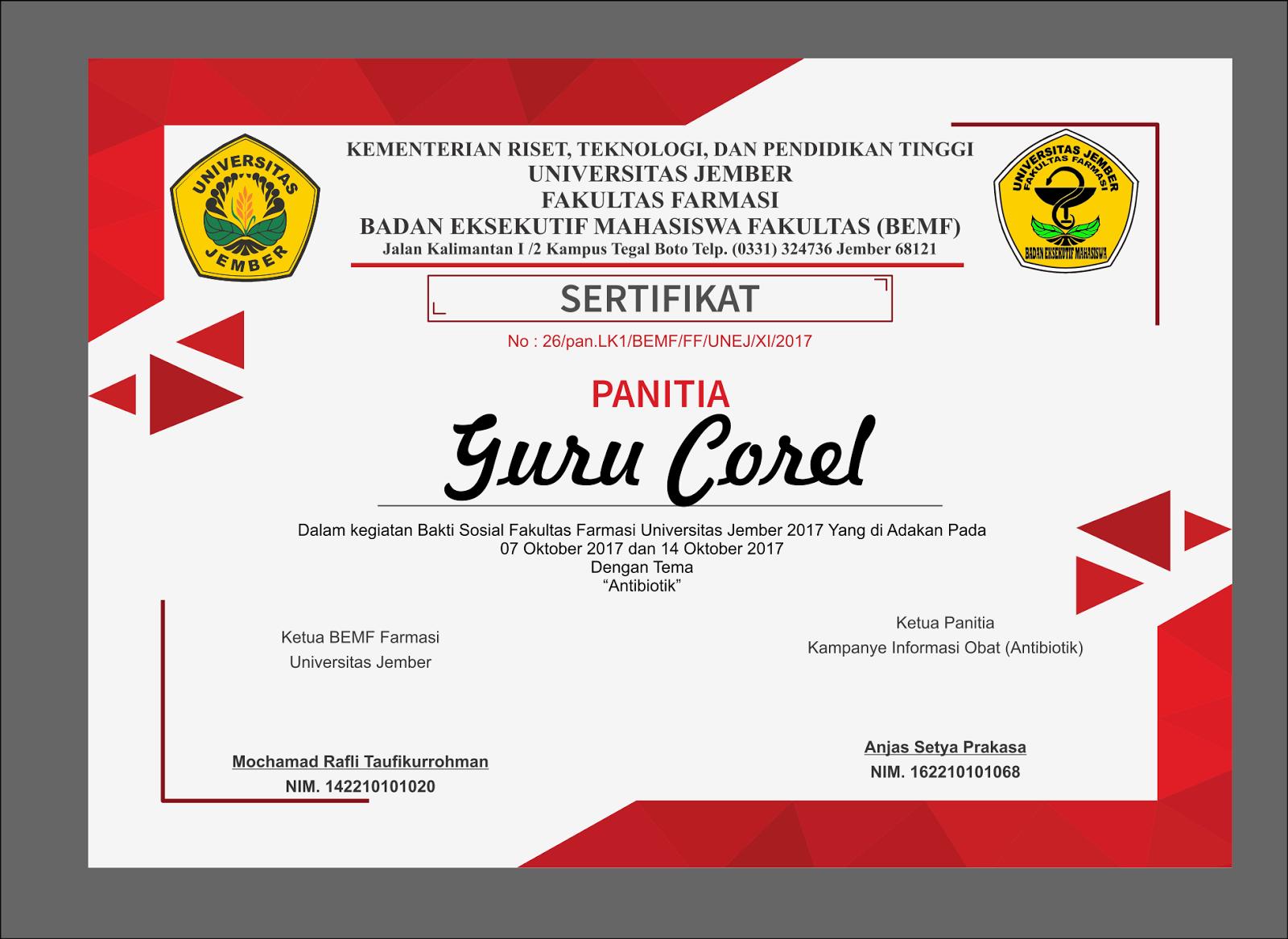 Download Piagam Penghargaan Untuk Seminar Format Coreldraw