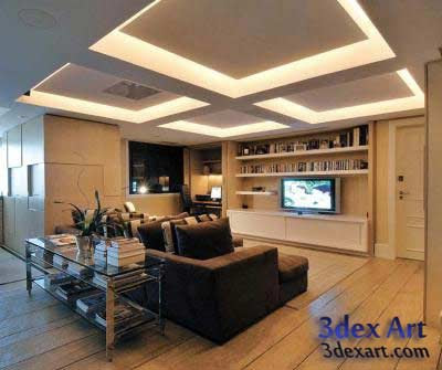 Latest false ceiling designs for living room and hall 2019 - Ceiling design for living room 2015 ...
