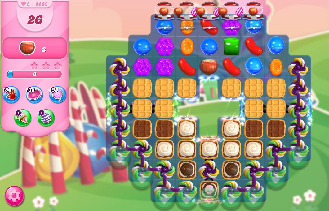 Candy Crush Saga level 5866