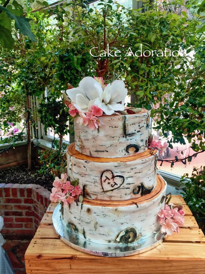 Cake Adoration A Few Recent Cakes - Wedding Cake Tree Bark