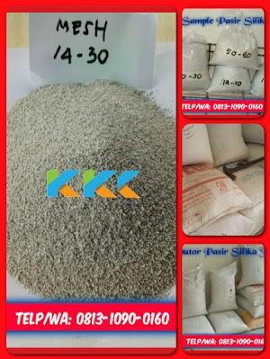 Pasir Silika Bangka Mesh 14-30 Kemasan 50 Kg