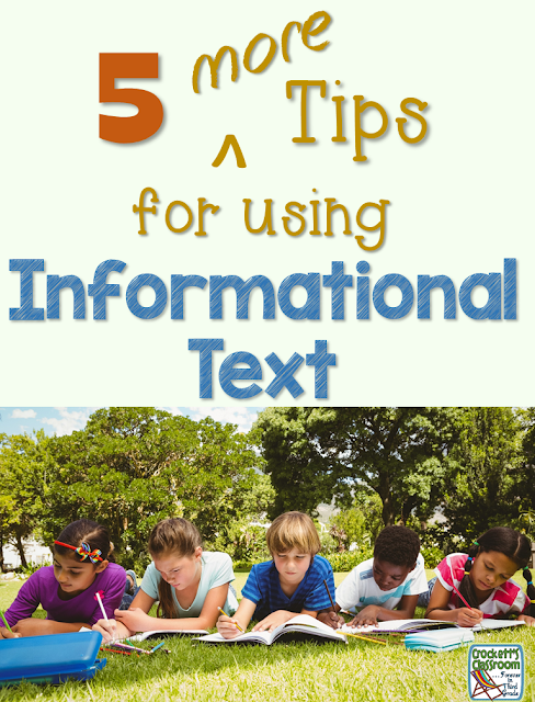 Are your students struggling with informational texts?   Ways to easily start using more informational text during your reading lessons.