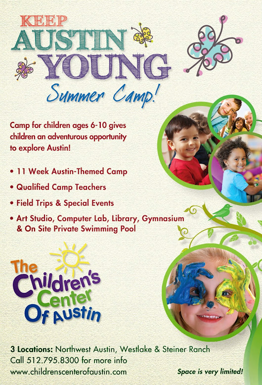 "Join The Children's Center of Austin's ""Keep Austin Young"" Summer Camp"