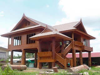 แบบบ้านไม้สักทอง