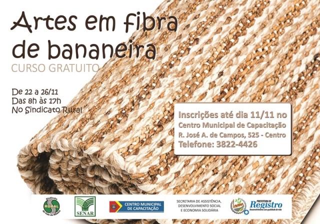 Centro Municipal de Capacitação recebe inscrições para curso de artesanato em fibra de bananeira
