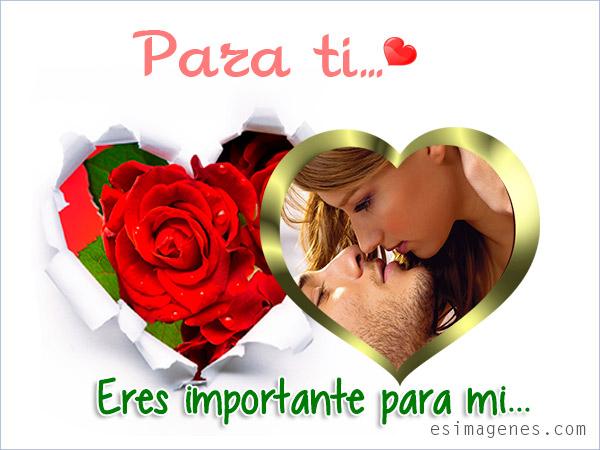 Tarjetas románticas para amor