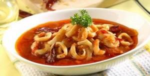 Resep Cumi Saus Padang, cara memasak cumi saus padang