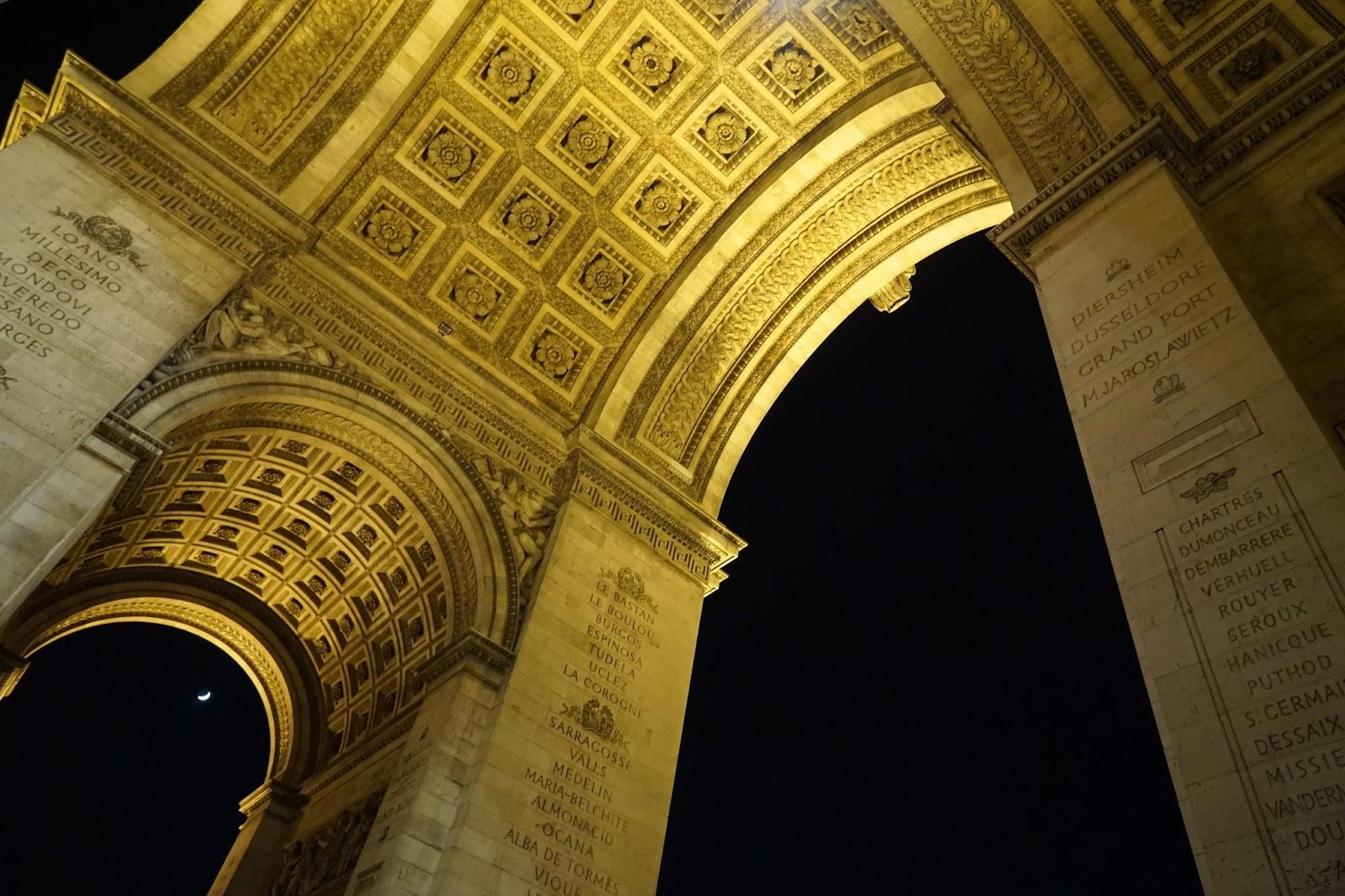 エトワールの凱旋門(Arc de triomphe de l'Étoile) 凱旋門のアーチ