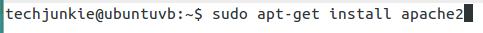 type sudo apt-get install apache2 to install apache http server