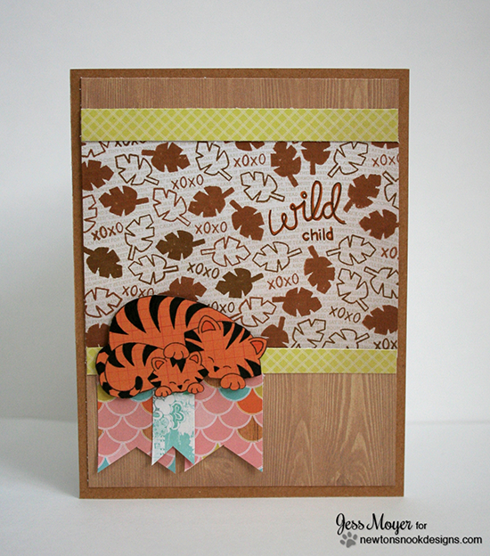Tiger card by Jess Moyer for Newton's Nook Designs | Wild Child Stamp set