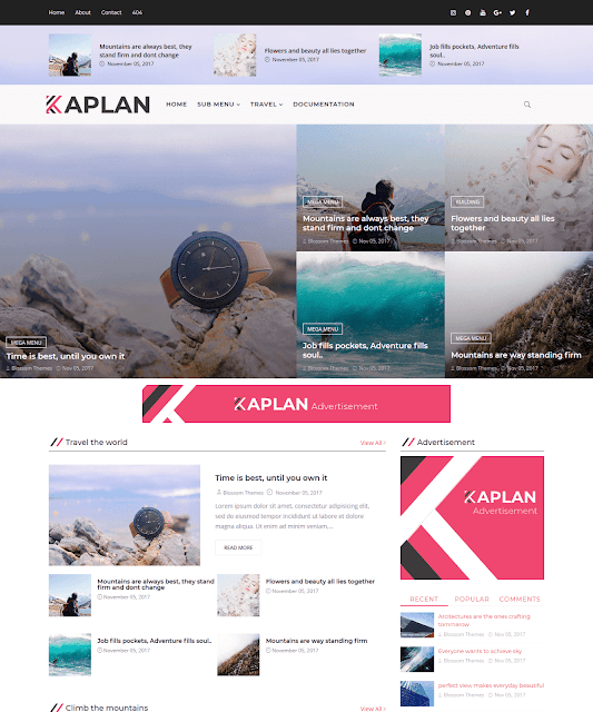 Kaplan Blogger Template Chuẩn SEO