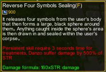 Naruto Castle Defense 7.05 Reverse four symbols sealing detail