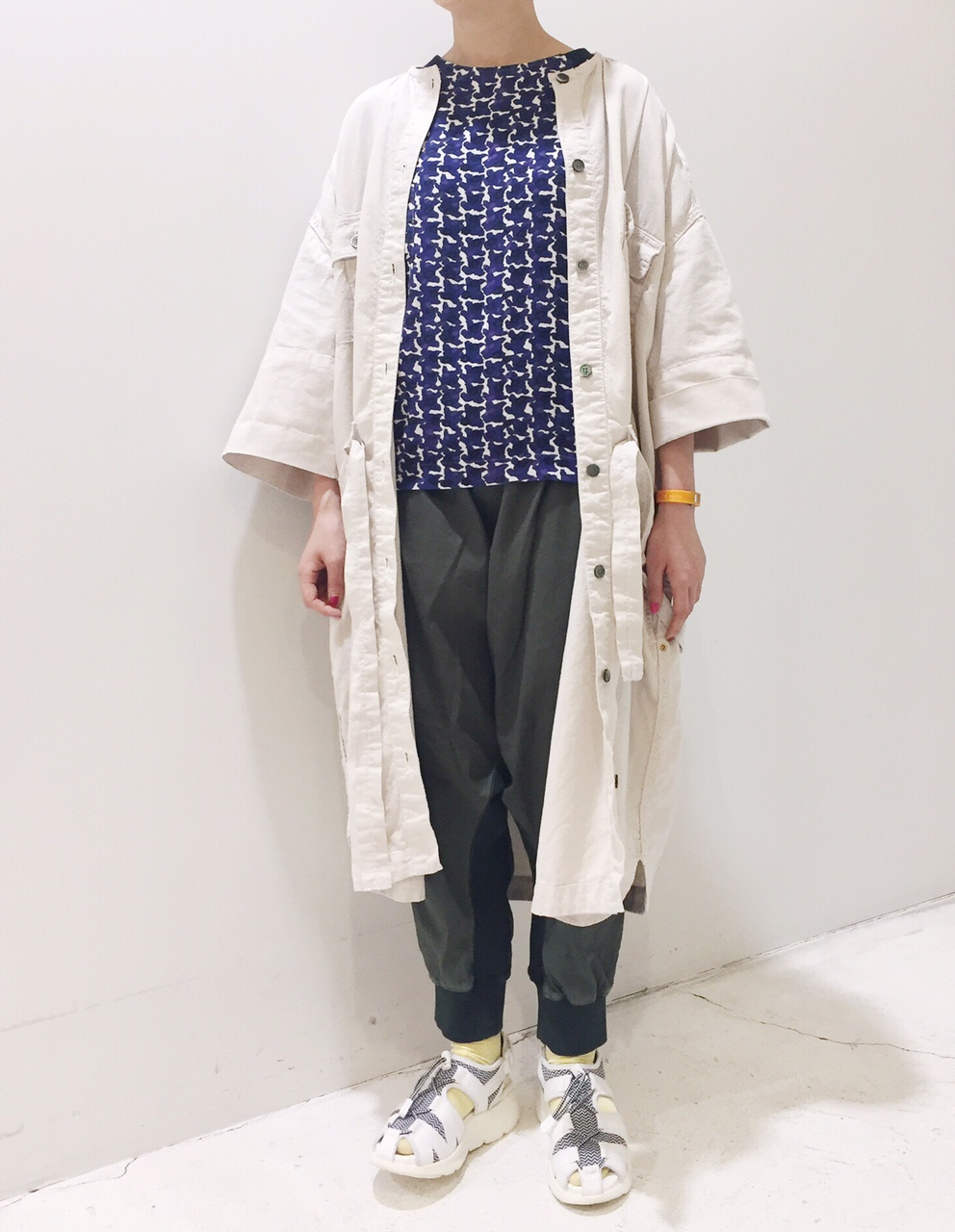 mercibeaucoup,【メルシーボークー】にじみちどりシャツ◎香川・綾川店