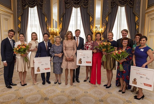 Queen Maxima wore Natan dress spring summer 2017 collection. King Willem-Alexander and Princess Beatrix