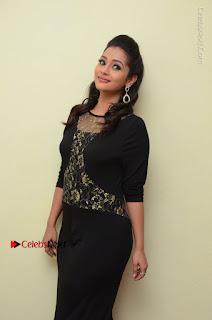 Telugu Actress Manasa Manohar Stills in Black Long Dress at Naku Nene Thopu Turumu Trailer Launch  0030.JPG