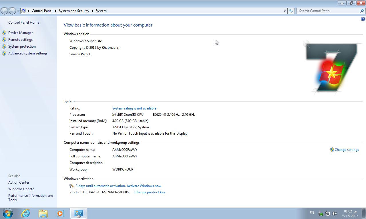 windows 7 sp1 super lite x86 v2 0 dviral. Black Bedroom Furniture Sets. Home Design Ideas