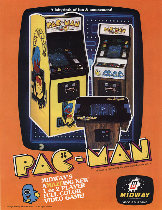 Pac-Man advertising (Midway) front