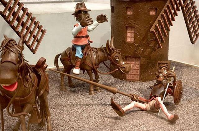 Figuras de chocolate no Museu de la Xocolata em Barcelona