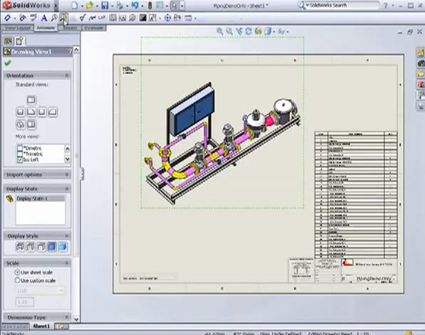 How Piping Design with SolidWorks  | Drawing and Graphics
