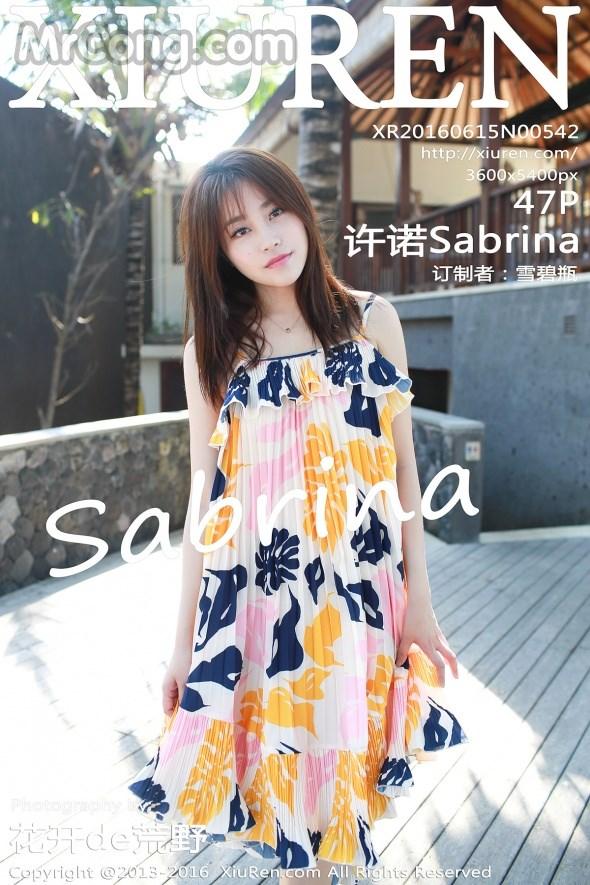 XIUREN No.542: Người mẫu Sabrina (许诺) (48 ảnh)