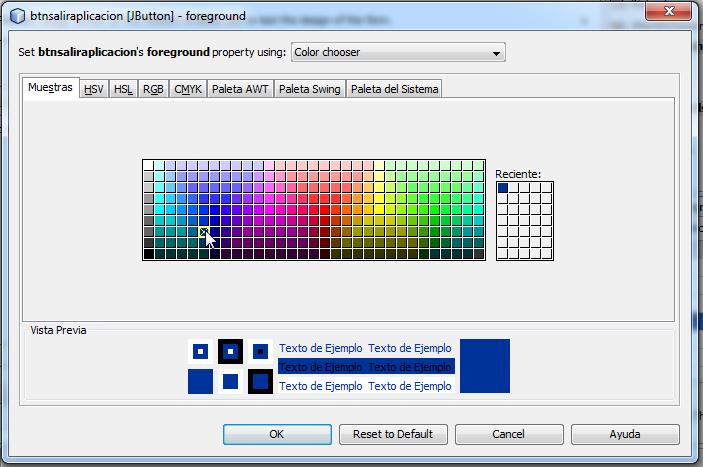 Selección del color a aplicar al texto del botón.