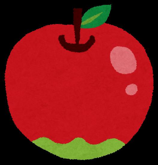 りんごのイラスト(フルーツ)