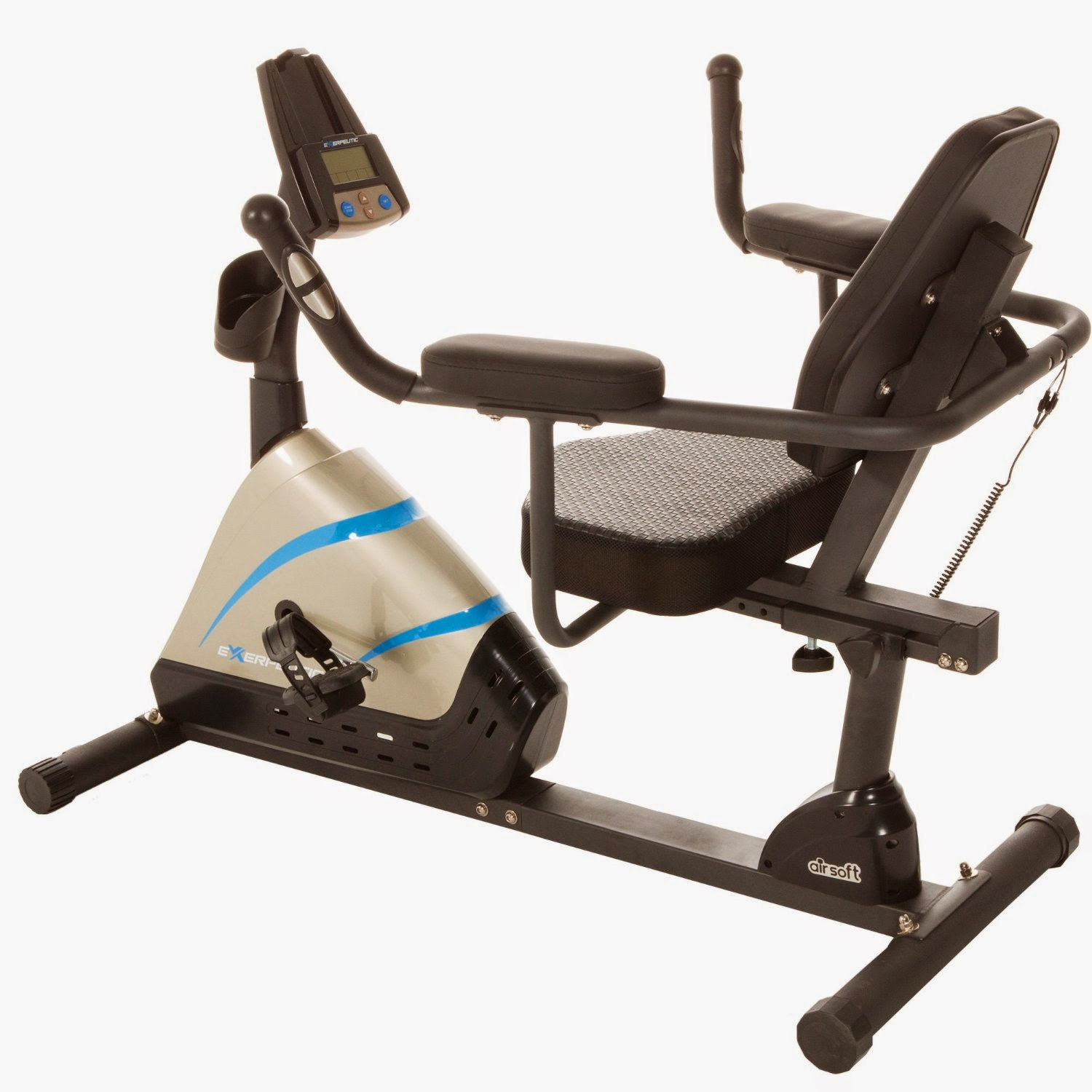 Exerpeutic 2000 High Capacity Programmable Magnetic Recumbent Bike with Air Soft Seat, picture, review features & specifications