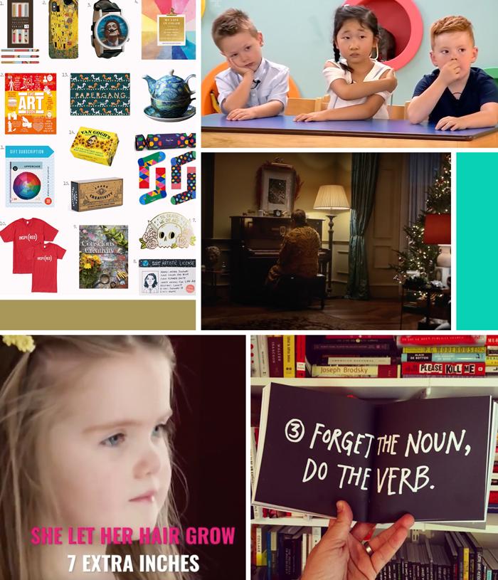 Friday links, gift for art lovers, channel 4 the secret life of 5 year olds, John Lewis & Partners Christmas ad, Elton John, Austin Kleon, kindness