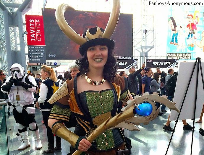 female cosplayer as Loki