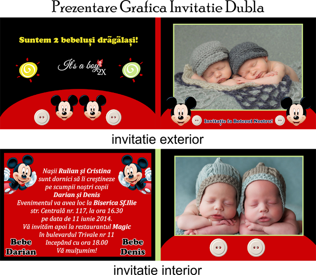 set botez gemeni mickey
